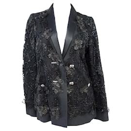 Chanel-8,6K$ Lesage Lace Jacket-Black