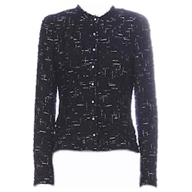 Chanel-Pearl Buttons Lesage Tweed Jacket-Navy blue
