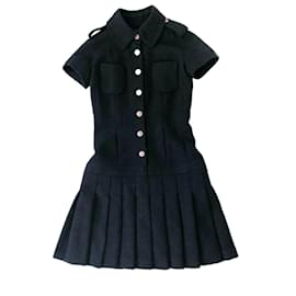 Chanel-New 2016 Tweed dress-Navy blue