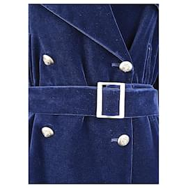 Chanel-Extremely Rare Velvet Coat-Blue