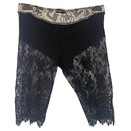 Chanel-Chanel lace shorts-Black