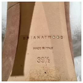 Brian Atwood-Maniac nude stiletto pumps-Pink,Beige