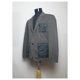 Hugo Boss-Blazers Jackets-Grey,Khaki