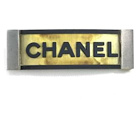 Chanel-[Used] CHANEL Sports Line Logo Hair Ornament Hair Accessory Hair Accessory 01P Valletta Rubber / SS Ladies Black-Black,Golden