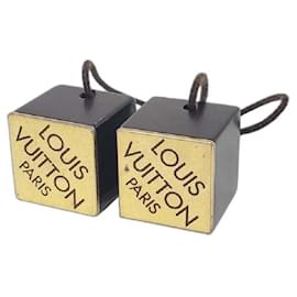 Louis Vuitton-[Used] LOUIS VUITTON Ankhlusion Hair Cube Hair Cube Hair Elastic Logo 53332 Hair accessories-Black,Golden