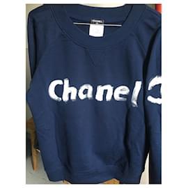 Chanel-Chanel collector sweatshirt-Navy blue