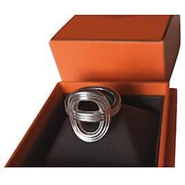Hermès-ANCHOR CHAIN 24 GM vertical-Silvery