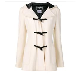 Chanel-Cashmere Parka Duffle Coat-Cream