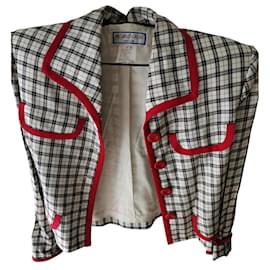 Yves Saint Laurent-Jackets-Black,White,Red
