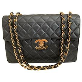 Chanel-Chanel maxi jumbo vintage-Black