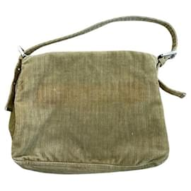 Fendi-[Used] Fendi Mamma Baguette Corduroy Shoulder Bag-Beige