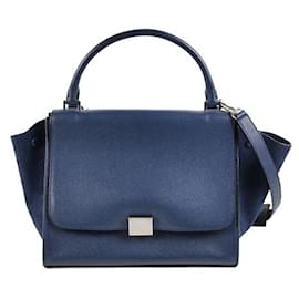 Céline-[Used] Celine CELINE Trapeze Medium 2Way Handbag-Navy blue