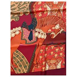Hermès-Sublime square Hermès Art des steppes details-Orange