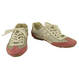 Hogan-Women's Silver Pink HOGAN Olympia By TOD'S Shoes Sneakers Trainers shoes sz 36,5-Multiple colors