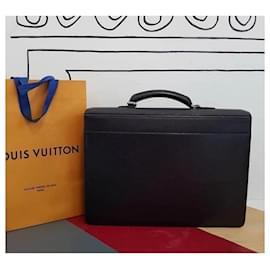 Louis Vuitton-Louis Vuitton Black Epi Leather Robusto 2 Compartment Briefcase-Black