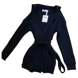 Dior-cashmere jacket-Eggshell,Navy blue