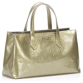Louis Vuitton-Authentic Louis Vuitton Vernis Wilshire PM-Light green