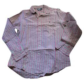 Polo Ralph Lauren-Striped cotton shirt, Size L.-Multiple colors
