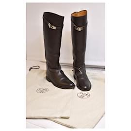 Hermès-Kelly Hermès Jumping Riding Boots in Brown-Brown