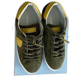 Philippe Model-Sneakers-Khaki,Yellow