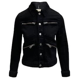 Zadig & Voltaire-Zadig & Voltaire Kioko Cat Jacket in Black Denim-Black
