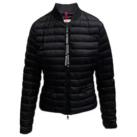 Moncler-Moncler Black Nylon Bomber Jacket-Black