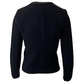Iro-Iro Black Fleece Wool Evening Jacket-Black