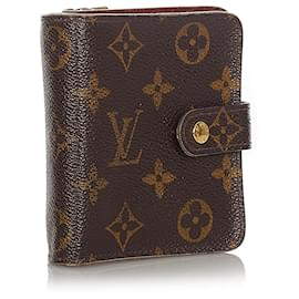 Louis Vuitton-Louis Vuitton Brown Monogram Bi-Fold Compact Wallet-Brown