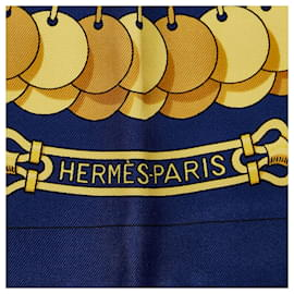 Hermès-Hermes Blue Kosmima Silk Scarf-Blue,Multiple colors