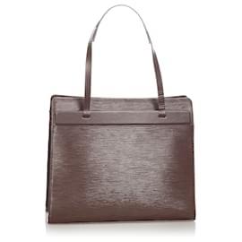 Louis Vuitton-Louis Vuitton Brown Epi Croisette PM-Brown,Dark brown