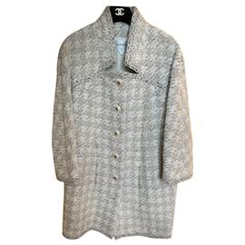 Chanel-New 2019 Fall Tweed Coat-Beige