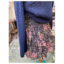 Zadig & Voltaire-Superb Zadig et Voltaire Jessy Print skirt-Black,Pink