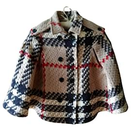 Burberry-GIRL'S BURBERRY CAPE PONCHO CHECK TARTAN LIKE NEW 10 YEARS SOLD OUT !!!!-Beige