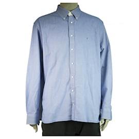 Tommy Hilfiger-Tommy Hilfiger Oxford Blue Button Down Shirt Long Sleeve Cotton Mens XXL-Blue