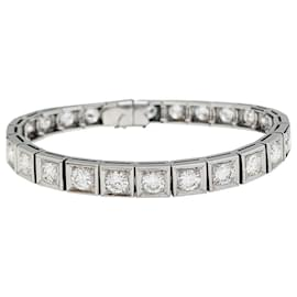 inconnue-Platinum diamond line bracelet.-Other