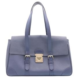 Louis Vuitton-LOUIS VUITTON Epi Segur MM Shoulder Bag Blue M5886G LV Auth 24069-Blue