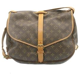 Louis Vuitton-Louis Vuitton Monogram Saumur 35 Shoulder Bag M42254 LV Auth 23929-Other