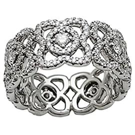 """De Beers-De Beers Ring, """"Enchanted Lotus"""", WHITE GOLD, diamants.-Other"""