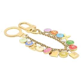 Louis Vuitton-LOUIS VUITTON Porte Cles Cianne Pastilles Bag Charm Chain M65386 LV Auth 23943-Multiple colors,Other
