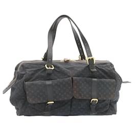 Louis Vuitton-LOUIS VUITTON Monogram mini Louise Boston Bag TST Blue M42321 LV Auth 23946-Other