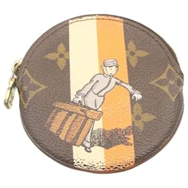 Louis Vuitton-LOUIS VUITTON Monogram Groom Porte Monnaie Round Coin Purse M60037 auth 23955-Other