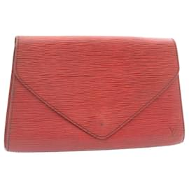 Louis Vuitton-LOUIS VUITTON Epi Art Deco Clutch Bag Red M52637 LV Auth 23967-Red