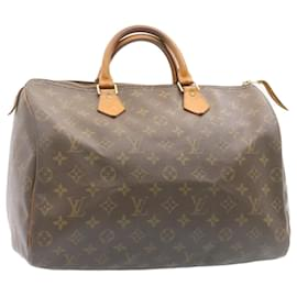 Louis Vuitton-Louis Vuitton Monogram Speedy 35 Hand Bag M41524 LV Auth 23973-Other