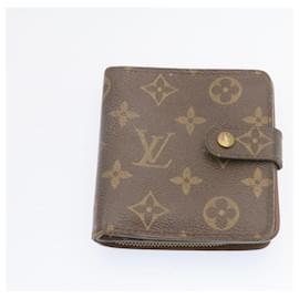 Louis Vuitton-Portefeuille compact zippé à deux volets monogrammé LOUIS VUITTON 2Ensemble M95005 Auth LV 24003-Autre