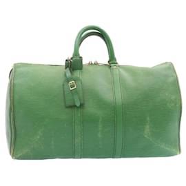 Louis Vuitton-Louis Vuitton Epi Keepall 45 Boston Bag Green M42974 LV Auth 24011-Green