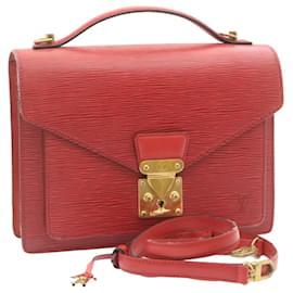Louis Vuitton-Louis Vuitton Epi Monceau 2Way Hand Bag Briefcase Red M52127 LV Auth 24015-Red