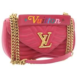 Louis Vuitton-Louis Vuitton New Wave 2Way Chain Shoulder Bag Pink M55020 LV Auth 24027-Pink