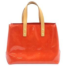 Louis Vuitton-LOUIS VUITTON Monogram Vernis Reade PM Hand Bag Red M91088 LV Auth 24034-Red