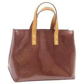Louis Vuitton-LOUIS VUITTON Monogram Vernis Reade PM Hand Bag Purple M93578 LV Auth 24044-Purple