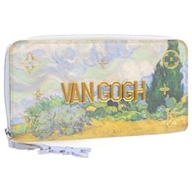 Louis Vuitton-LOUIS VUITTON Van Gogh Zippy Wallet Light Blue M64607 LV Auth 24056-Light blue